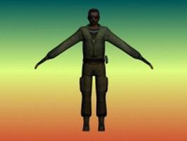 Resident Evil character man 3d model