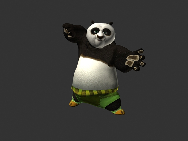 Animated Kung Fu Panda Po 3d Model 3dsmax Files Free