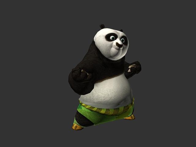 Animated Kung Fu Panda Po 3d Model 3dsmax Files Free