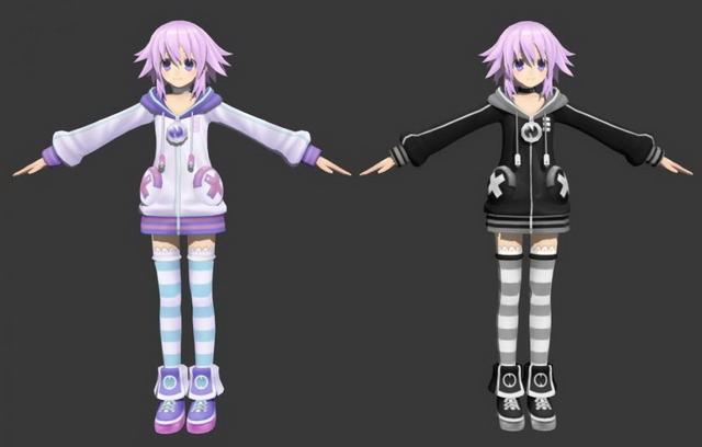 hyperdimension neptunia character neptune 3d model 3dsmax