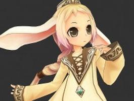 Beautiful little elf girl 3d model