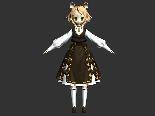 Cute Loli girl 3d model