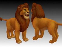 Lion king Simba 3d model