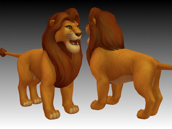 Lion King Simba 3d Model 3ds Files Free Download