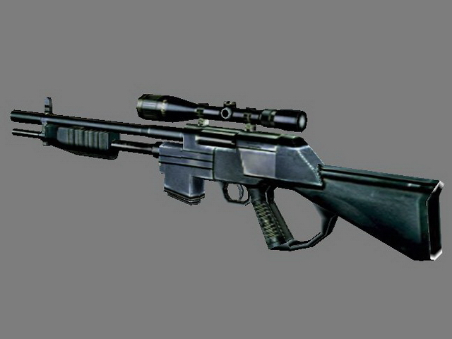 M24 Sniper Rifle 3d Model 3dsmax 3ds Files Free Download