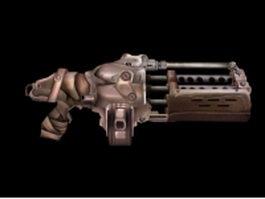 Sci fi minigun concept 3d model