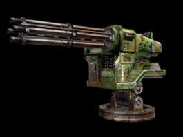 Modern heavy gatling gun 3d model