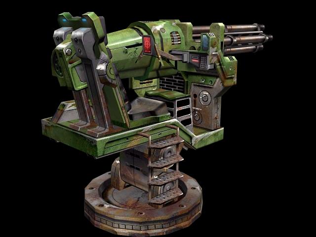 Modern Heavy Gatling Gun 3d Model 3dsmax Files Free