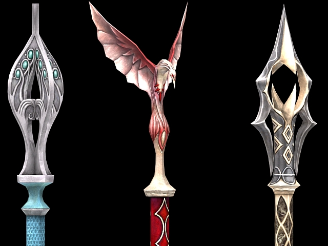 Fantasy Scepter Weapon Collection 3d Model 3dsmax Files