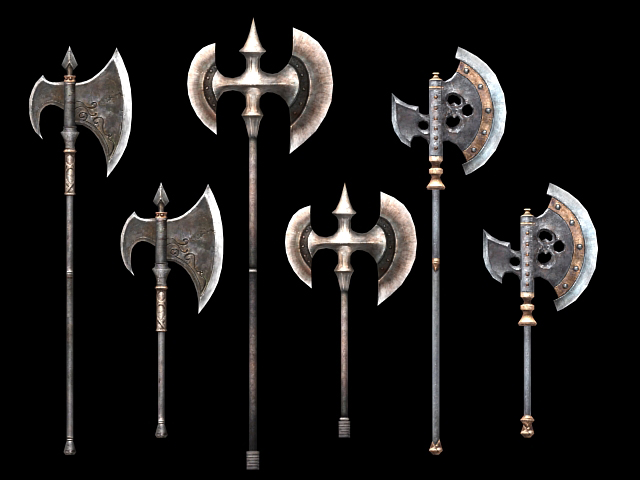 Battle Axe Weapon Collection 3d Model 3dsmax Files Free Download Modeling 19003 On Cadnav