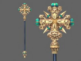 Crown staff 3d model
