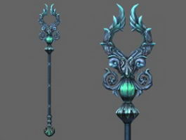 Staff of Heaven's Light 3d model