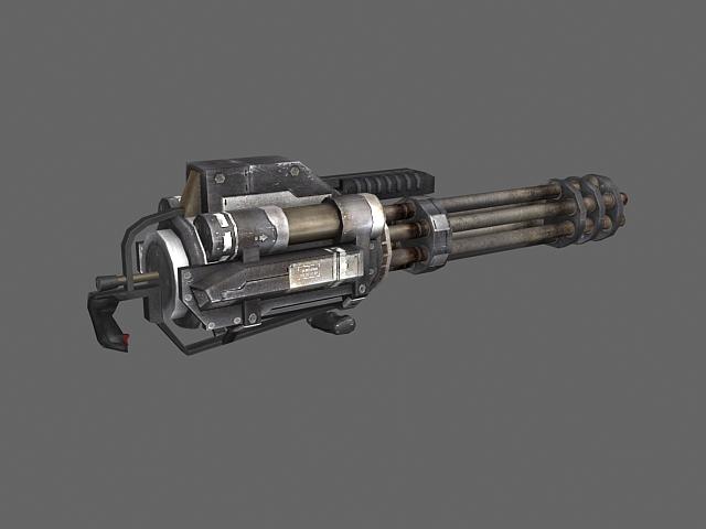 Mini Gatling Gun 3d Model 3dsmax Files Free Download