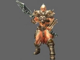 Diablo III Barbarian male 3d model