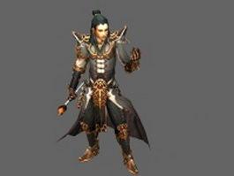 Diablo III character - wizard male 3d model