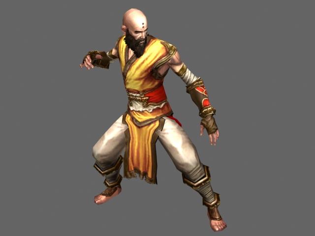 Diablo Iii Character Monk Male 3d Model 3dsmax Files