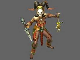 Diablo III character - Witch Doctor female 3d model