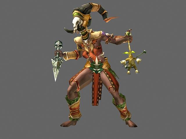 Diablo Iii Character Witch Doctor Female 3d Model 3dsmax