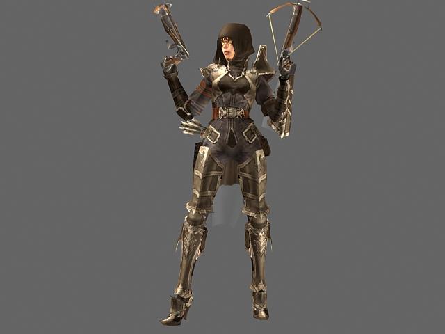 Diablo Iii Character Demon Hunter Female 3d Model 3dsmax