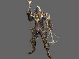 Diablo III character - Male Demon Hunter 3d model