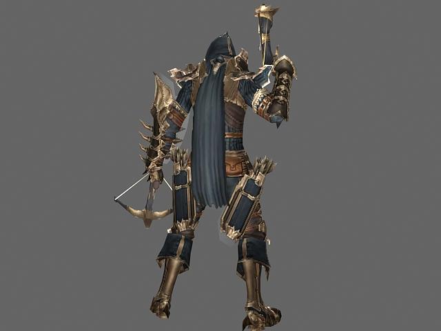 Diablo Iii Character Male Demon Hunter 3d Model 3dsmax