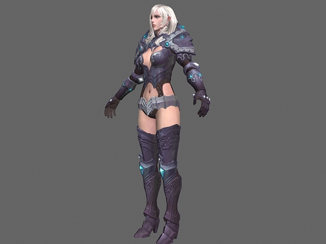 armored warrior woman 3d model 3dsmax files free download