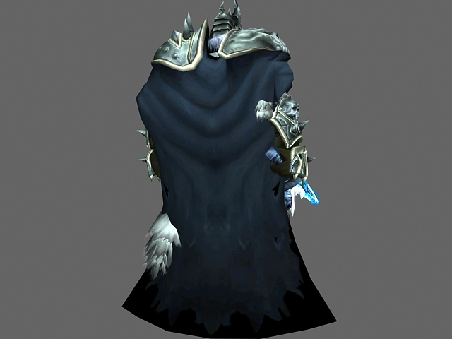 Wow The Lich King Arthas Menethil 3d Model 3dsmax Files