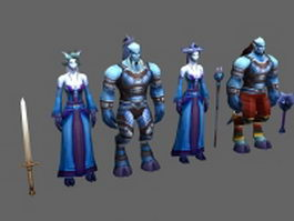 WoW - Draenei characters concept 3d model