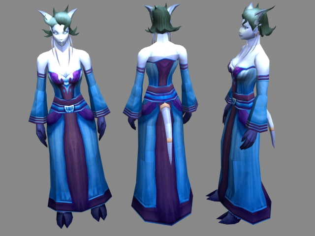 wow - draenei characters concept 3d model 3dsmax files free download