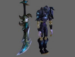 WoW Character - Undead Warrior Armor Sets 3d model
