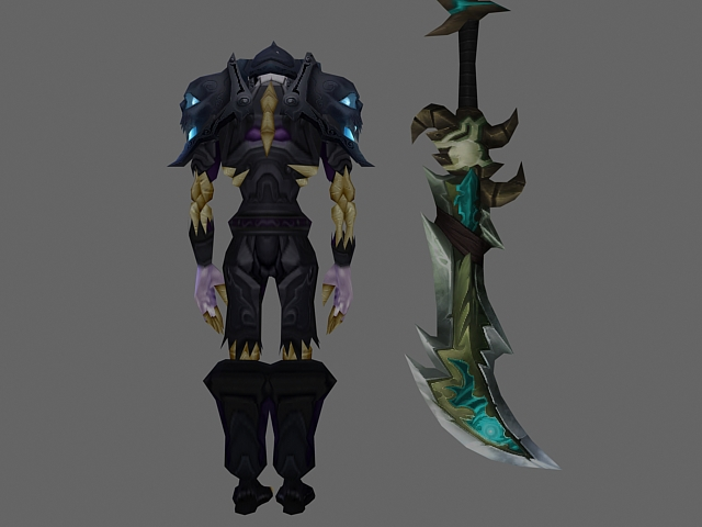 Wow Character Undead Warrior Armor Sets 3d Model 3dsmax