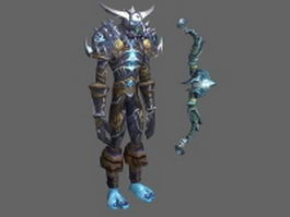 WoW Character - Hunter Tier 8 Man Set 3d model