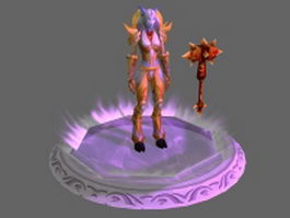 WoW Character - Draenei Female Paladin Tier 1 Sets 3d model