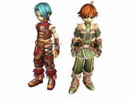 Fantasy boy warrior 3d preview