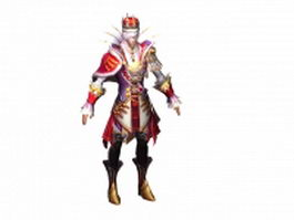 Human male mage 3d model