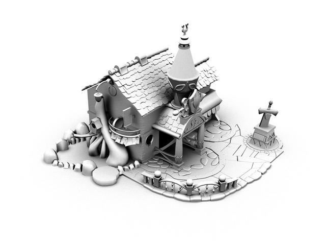 Cartoon House 3d Model Cadnav