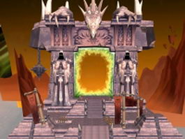 WoW building Dark portal gate 3d model