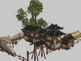 Ancient Chinese inn 3d model