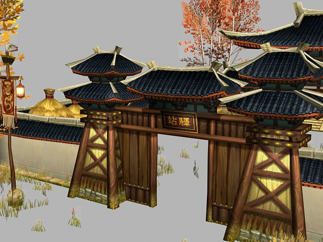 Chinese house 3d model free