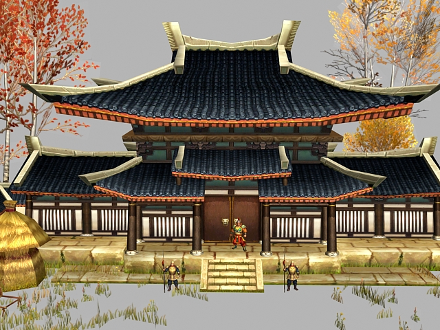 Ancient Chinese Post House 3d Model 3dsmax Files Free