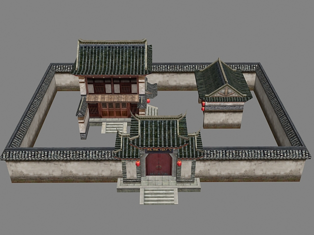 Ancient Chinese Courtyard House 3d Model 3dsMax Files Free Download Modeling 19102 On CadNav