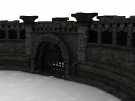 Ancient Rome castle walls 3d model