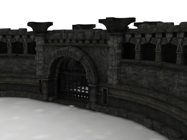 Ancient Rome Castle Walls 3d Model 3dsmax Files Free
