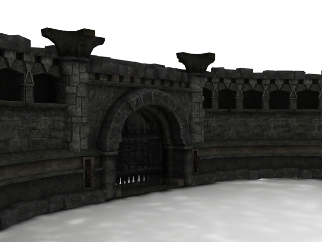 Ancient Rome Castle Walls 3d Model 3dsmax Files Free