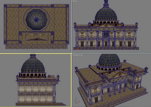 Exterior: Old Castle Mansion 3d Model 3dsMax Files Free Download