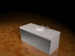 Kitchen countertop with sink 3d model