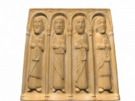 Romanesque relief sculpture 3d model