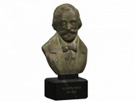 Bust of Giuseppe Verdi 3d model