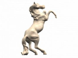 Marble horse statue 3d model