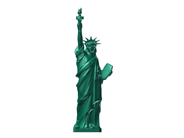 statue of liberty 3d model 3dsmax files free download modeling
